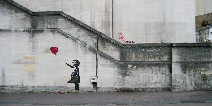 magazine label street art land art banksy