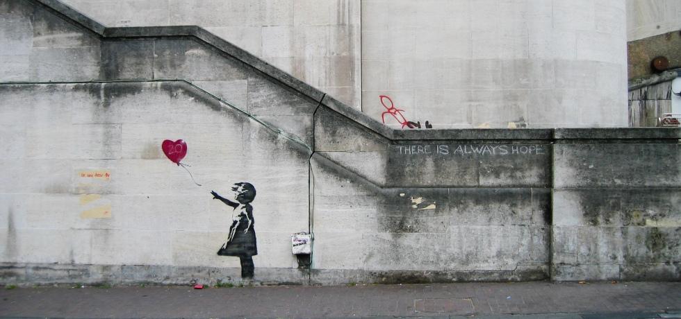 magazine label street art land art banksy